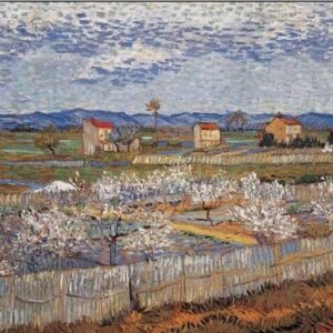 Posters Reprodukce Vincent van Gogh - La Crau s kvetoucími broskvoněmi