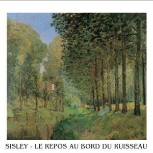 Posters Reprodukce Sisley - Odpočinek u potoka