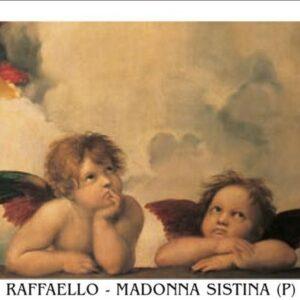 Posters Reprodukce Raffaello - Rafael Santi - Sixtinská madona