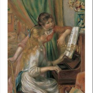 Posters Reprodukce Pierre-Auguste Renoir - Dívky u piána