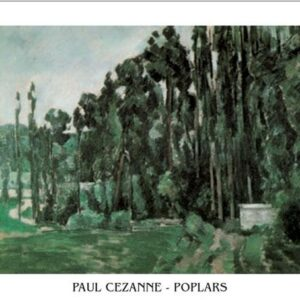 Posters Reprodukce Paul Cézanne - Topoly
