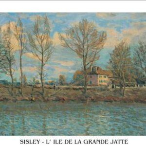 Posters Reprodukce Sisley - l'Île de la Grande Jatte