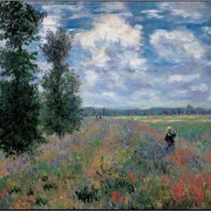 Posters Reprodukce Claude Monet - Pole vlčích máků v létě u Argenteuil