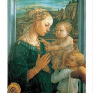 Posters Reprodukce Lippi - Panna s dítětem a dvěma anděly