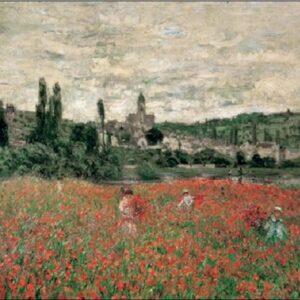 Posters Reprodukce Claude Monet - Pole s vlčími máky u Vetheuil