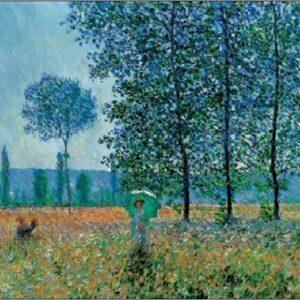 Posters Reprodukce Claude Monet - Pole na jaře