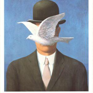 Posters Reprodukce René Magritte - Muž v buřince