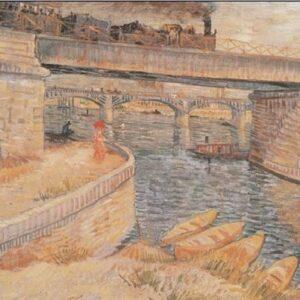 Posters Reprodukce Vincent van Gogh - Most přes Seinu v Asnieres