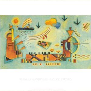 Posters Reprodukce Kandinsky - Mírný postup