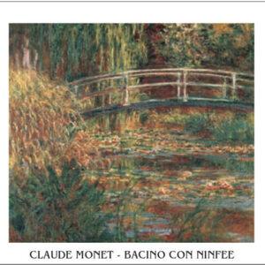 Posters Reprodukce Claude Monet - Japonský most s lekníny