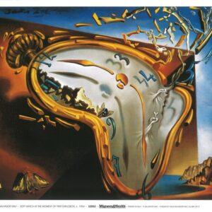 Posters Reprodukce Salvador Dalí - Měkké hodiny v okamžiku prvního výbuchu