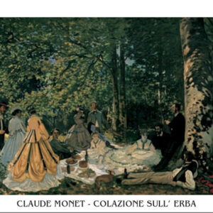 Posters Reprodukce Claude Monet - Oběd v trávě