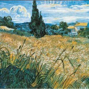 Posters Reprodukce Vincent van Gogh - Zelená obilná pole s cypřišem