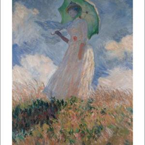 Posters Reprodukce Claude Monet - Žena se slunečníkem