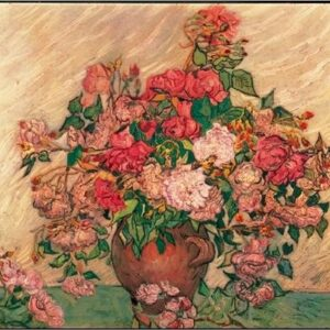 Posters Reprodukce Vincent van Gogh - Váza s růžemi