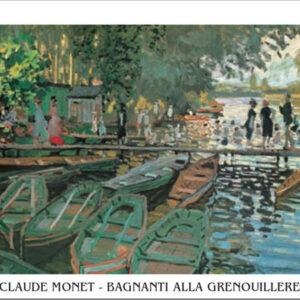 Posters Reprodukce Claude Monet - Koupání v La Grenouillère