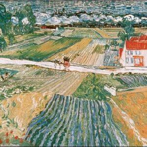 Posters Reprodukce Vincent van Gogh - Krajina v Auvers po dešti