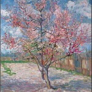 Posters Reprodukce Vincent van Gogh - Souvenir de Mauve - Růžová broskvoň v květu
