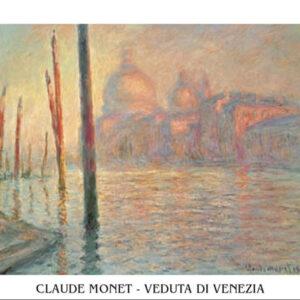 Posters Reprodukce Claude Monet - Canal Grande (Velký kanál) a Santa Maria della Salute