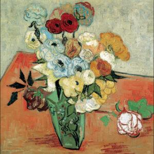 Posters Reprodukce Vincent van Gogh - Zátiší: Japonská váza s růžemi a sasankami