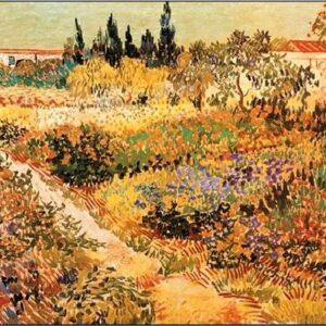 Posters Reprodukce Vincent van Gogh - Kvetoucí zahrada s pěšinou