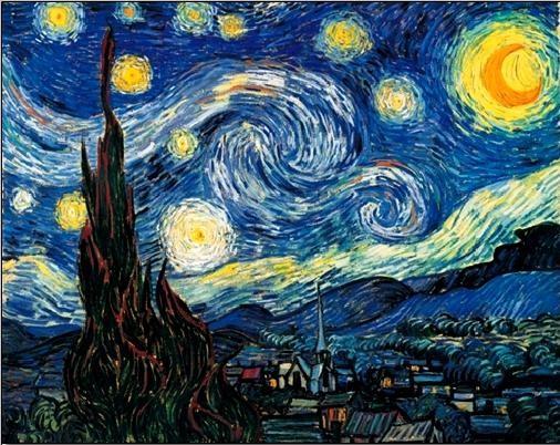 Posters Reprodukce Vincent van Gogh - Hvězdná noc