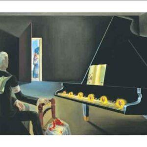 Posters Reprodukce Salvador Dalí - Částečná halucinace: Šest zjevení Lenina na klavíru