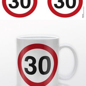 Posters Hrnek Narozeniny - 30 Traffic Sign - Posters