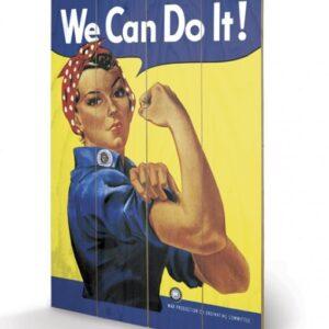 Posters Obraz na dřevě - We Can Do It! - Rosie the Riveter