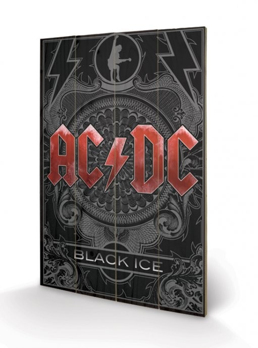 Posters Obraz na dřevě - AC-DC - Black Ice