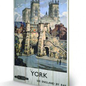 Posters Obraz na dřevě - York - See Britain by Rail