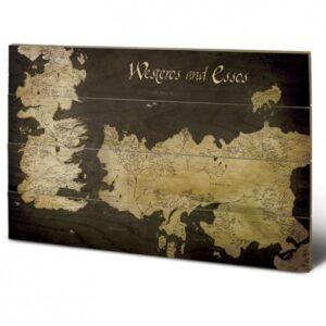 Posters Obraz na dřevě - Hra o Trůny - Game of Thrones - Westeros