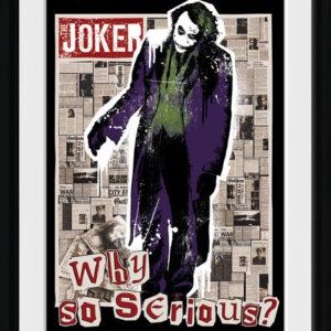 Posters Batman: Temný rytíř - Why So Serious rám s plexisklem - Posters