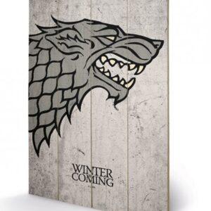 Posters Obraz na dřevě - Hra o Trůny - Game of Thrones - Stark