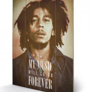 Posters Obraz na dřevě - Bob Marley - Music Forever