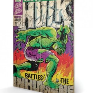 Posters Obraz na dřevě - Hulk - Battles Humans