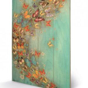 Posters Obraz na dřevě - Lily Greenwood - Chinese Green