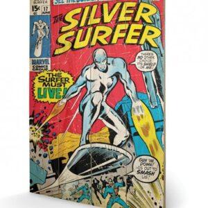 Posters Obraz na dřevě - Silver Surfer - Must Live