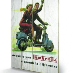 Posters Obraz na dřevě - Lambretta - Differenza