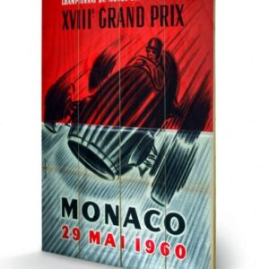 Posters Obraz na dřevě - Monaco - 1961