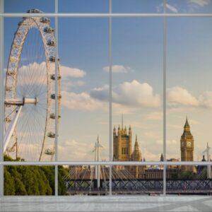 Posters Fototapeta Londýn - okno