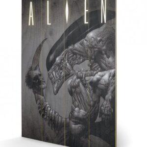 Posters Obraz na dřevě - Vetřelec (Alien) - Head on Tail