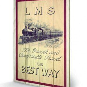 Posters Obraz na dřevě - Lokomotiva - LMS