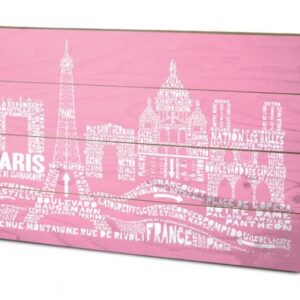 Posters Obraz na dřevě - Paříž - Citography