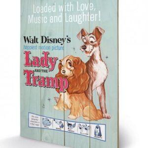 Posters Obraz na dřevě - Lady a Tramp - Love
