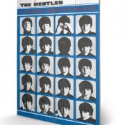 Posters Obraz na dřevě - The Beatles - A Hard Day's Night