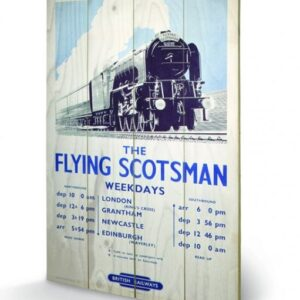 Posters Obraz na dřevě - Lokomotiva - The Flying Scotsman 2