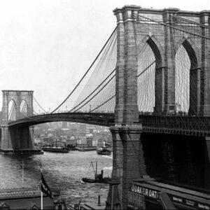 Posters Reprodukce A. LOEFLER - New York - Brooklyn bridge