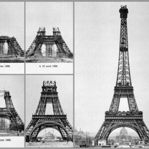 Posters Reprodukce ALAN SCHEIN PHOTOGRAPHY - Paříž - Konstrukce Eiffelovy věže