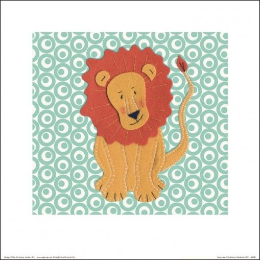 Posters Reprodukce Catherine Colebrook - Fuzzy Lion